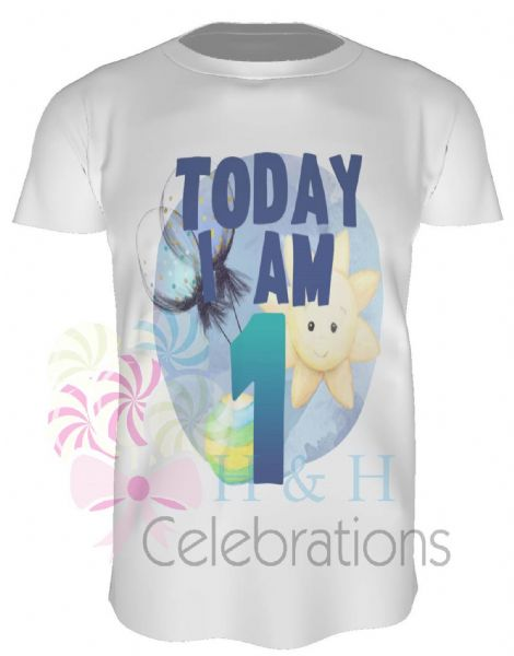 Today I Am 1 Balloons Personalised Child's T-Shirt